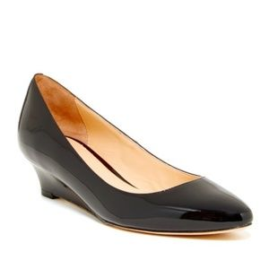 Cole Haan black bethany wedge heel 8.5 B round toe